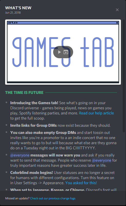 Discord's New Games Hub Update
