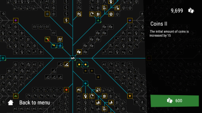 Infinitode Upgrades Screen