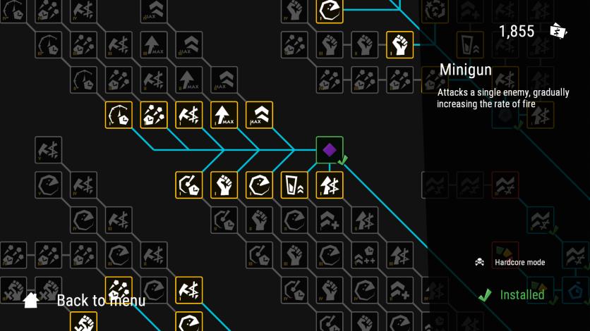 Infinitode Upgrades Screen Close