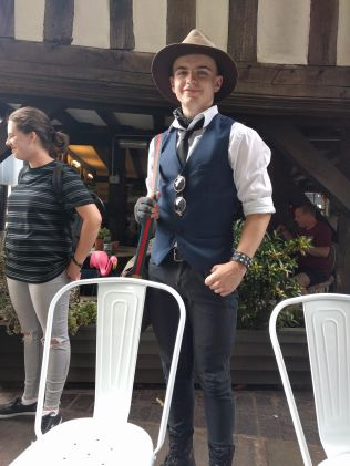 Waistcoats in this weather, stylish, but warm