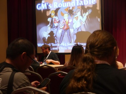 Joel's panel was a success - The room filled out again!