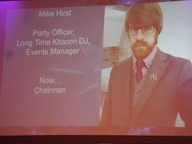 The new chairman of Kitacon, @DJShenny