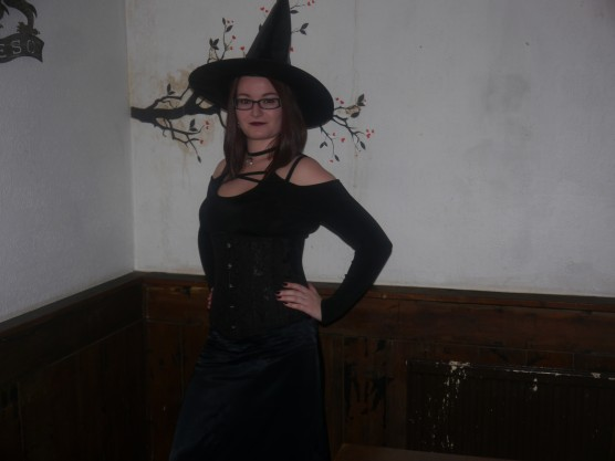 In third place was Mel with her stunning witch costume