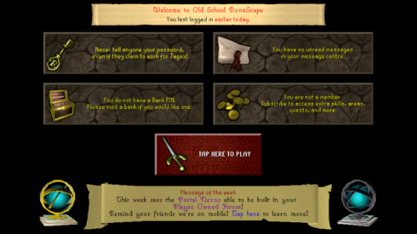 Mobile Game Review: Old School Runescape | GeekOut UK