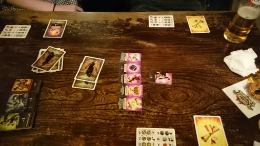 A game of Welcome to the Dungeon in progress.