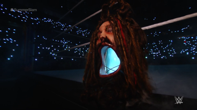 The Bray Wyatt head was grotesque!